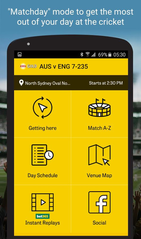 Android Cricket Australia Live Screen 5