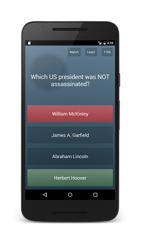Android General Knowledge Quiz Screen 5