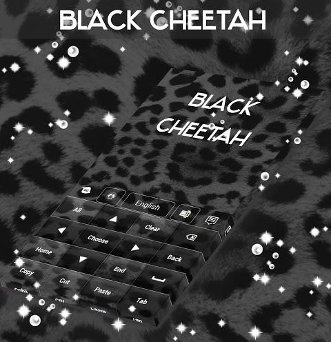 Android Black Cheetah. GO Keyboard Theme Screen 2
