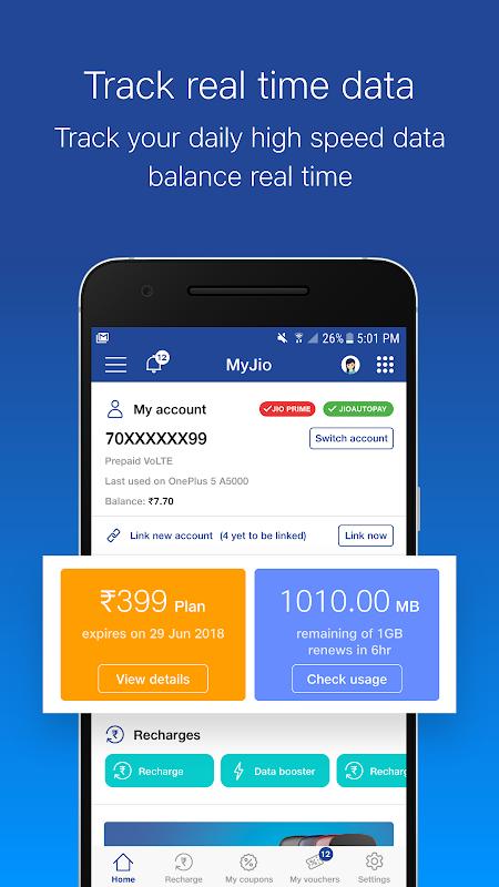 Android MyJio Screen 5
