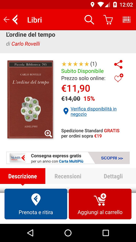 la Feltrinelli mobile 5.0 Screen 2