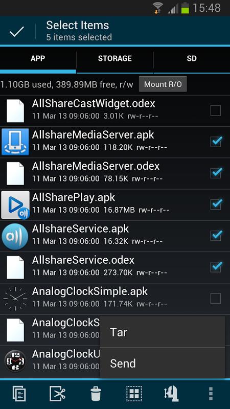 Root Explorer 3.2 Screen 10