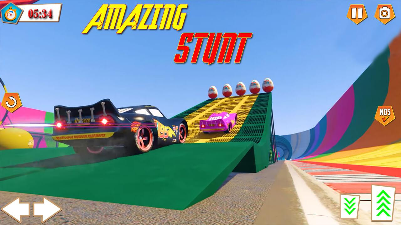 Android Superhero Racing Car driving Stunts Screen 3