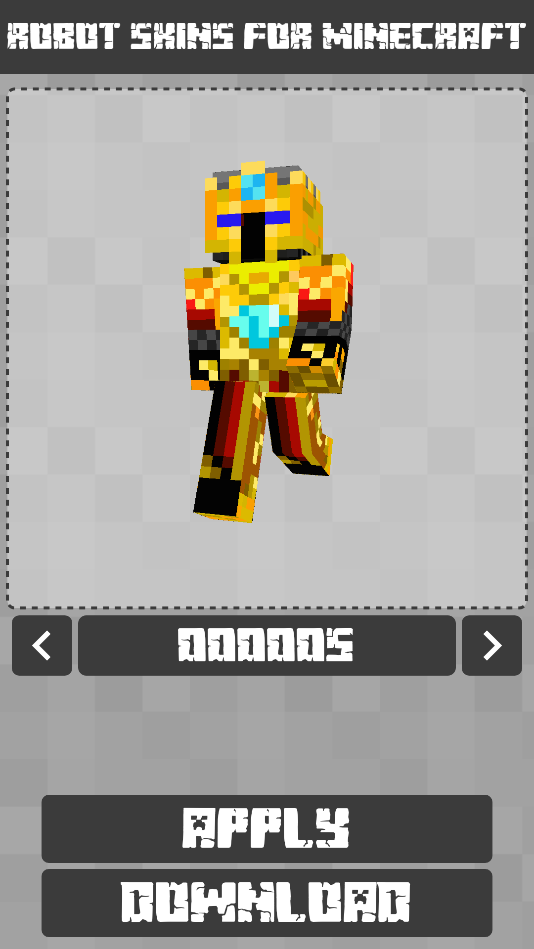 Android Robot Skins for Minecraft PE Screen 5