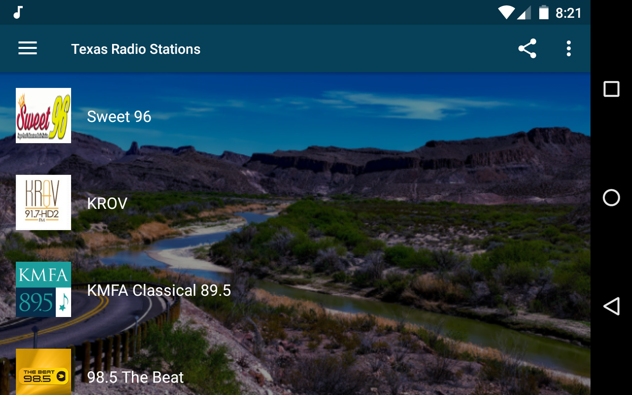 Android Texas Radio Stations Screen 4