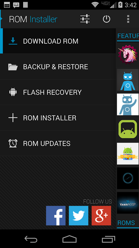 Android ROM Installer Screen 1