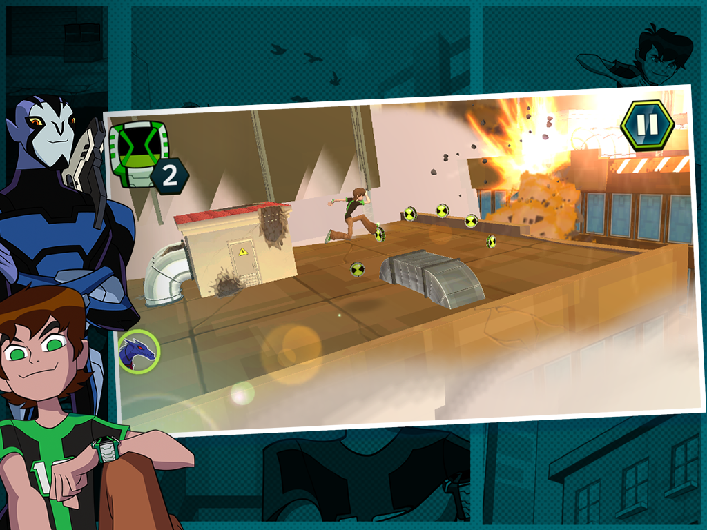 Android Undertown Chase - Ben 10 Screen 1