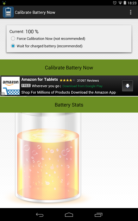 Calibrate Battery Now (root) 1.3 Screen 3