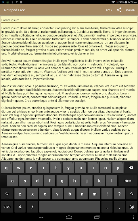 Notepad Free 1.3.2 Screen 6