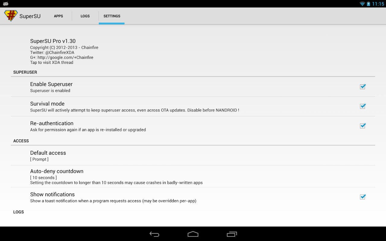 Android SuperSU Screen 4