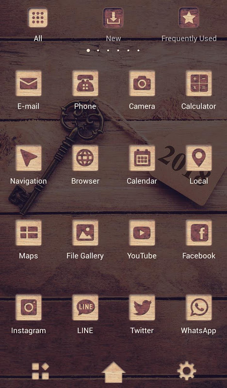 Android Antique Wallpaper Key to 2018 Theme Screen 2