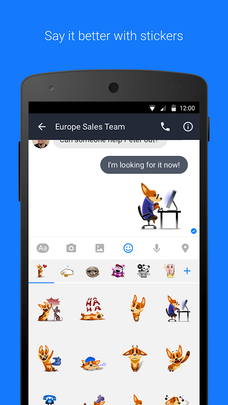Android Workplace Chat by Facebook Screen 3