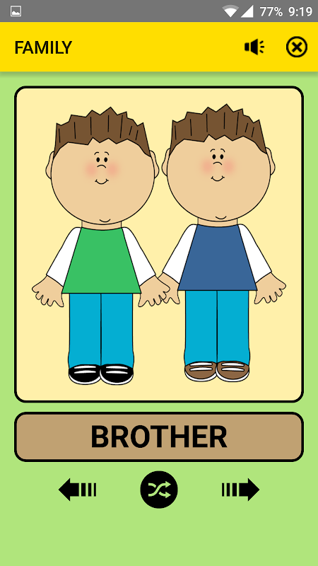 Android Family and Relations For Kids : Educational Game Screen 3