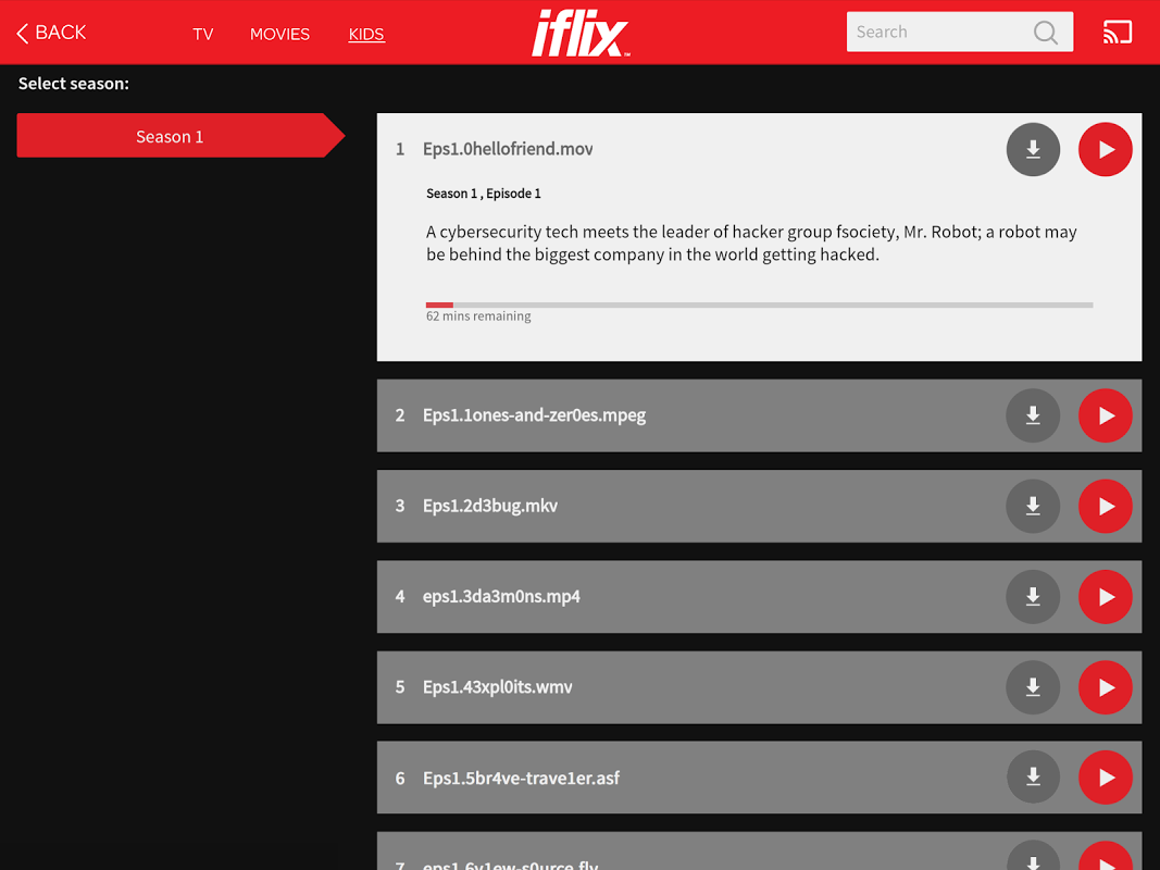 iflix 2.18.0-2982 Screen 2