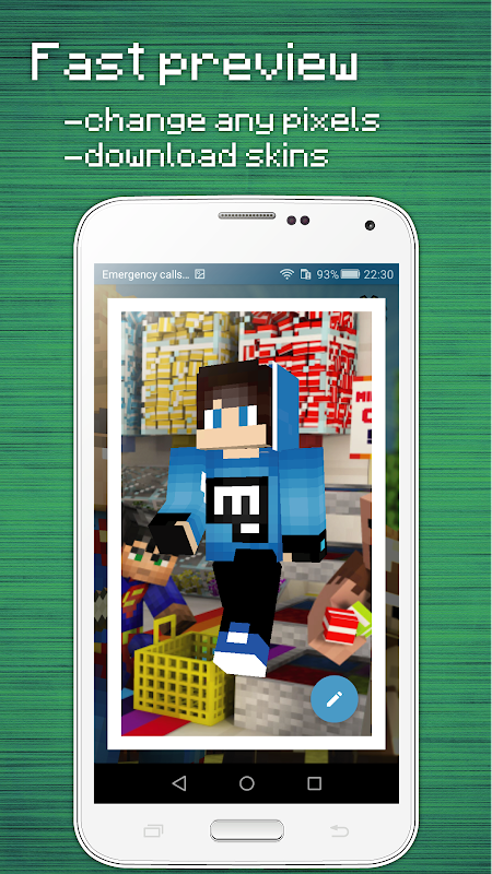 Android Skins Editor for Minecraft PE (3D) Screen 3