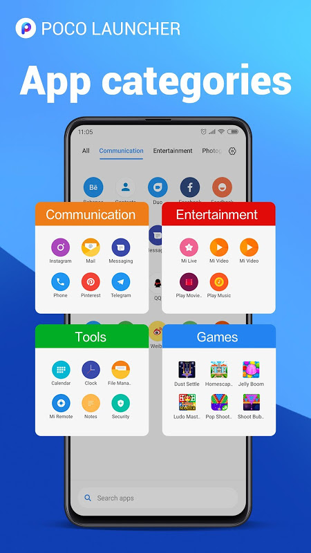 POCO Launcher 2.0- Customize,  Fresh & Clean 2.7.1.5 Screen 1