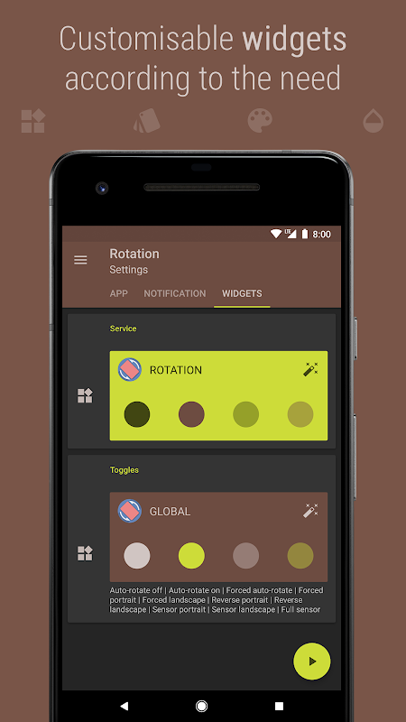 Android Rotation - Orientation Manager Screen 4
