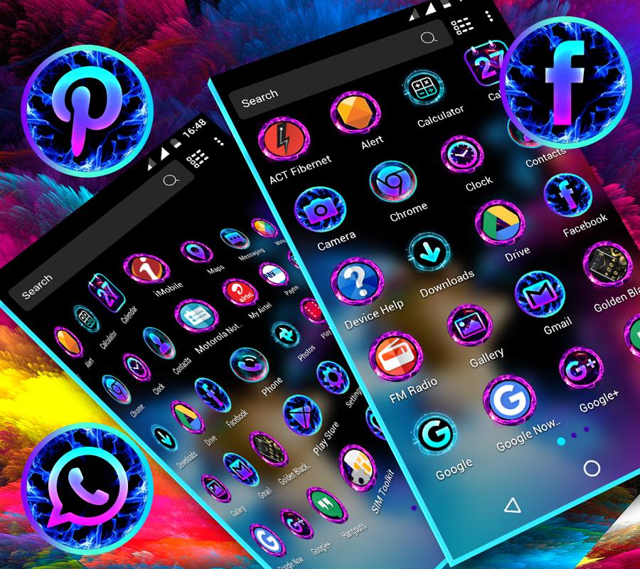 Smoke Colors Launcher Theme 1.4 Screen 1