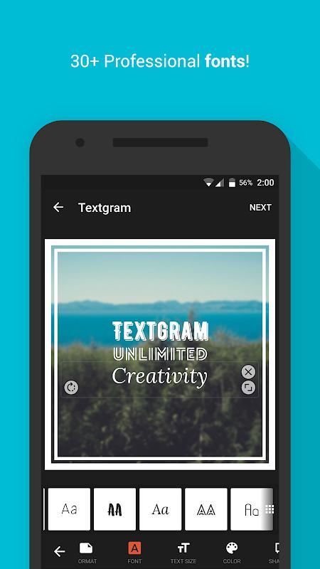 Android Textgram - write on photos Screen 3