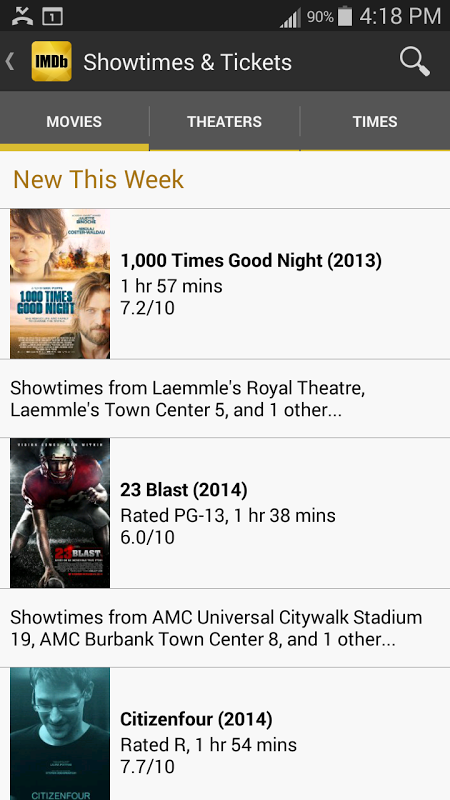 Android IMDb Movies & TV Screen 12