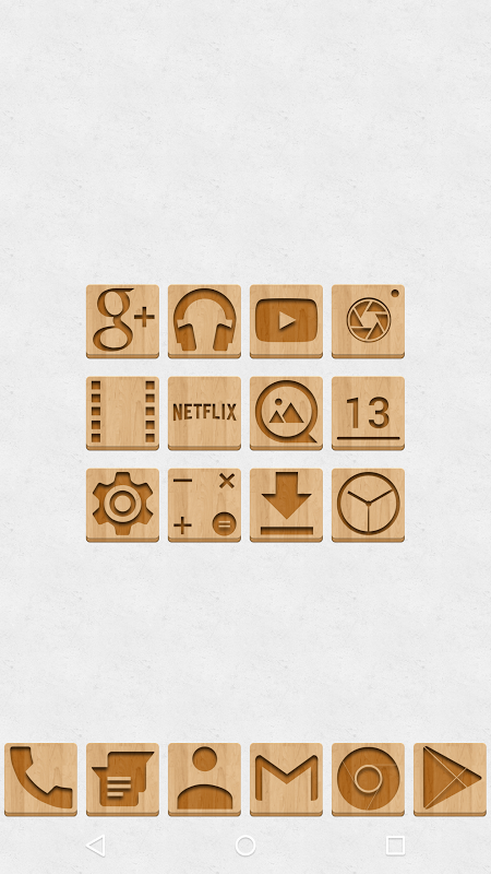 Android Wood - Icon Pack Screen 2