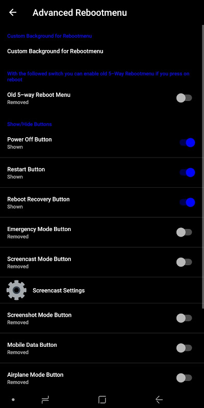 Android Minotaurus Multi RomControl Screen 6