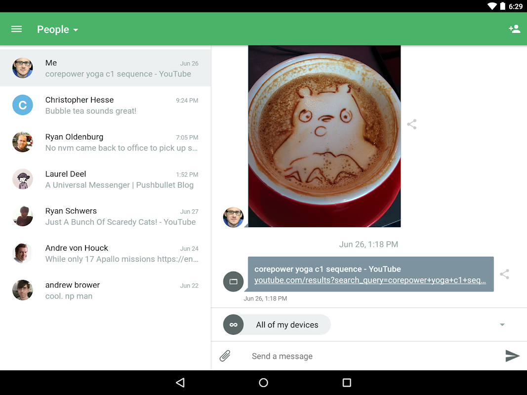 Pushbullet - SMS on PC 17.8.15 Screen 4