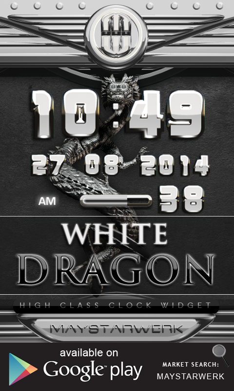 Android Dragon Clock Widget white Screen 2