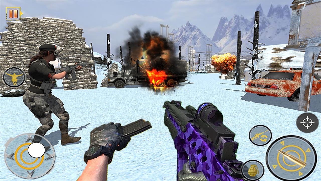 Android Free Fire Shooting Battleground: Gun Shooting Game Screen 2