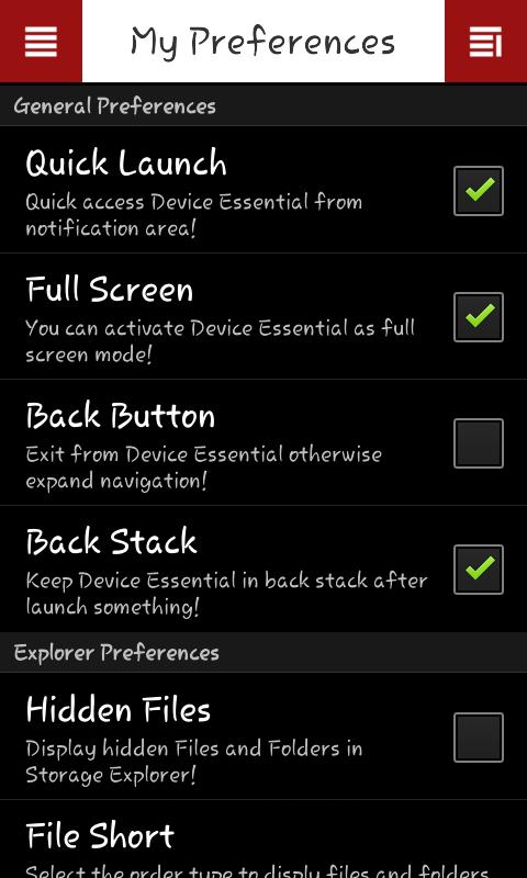 Device Essential 1.3.0 Screen 5