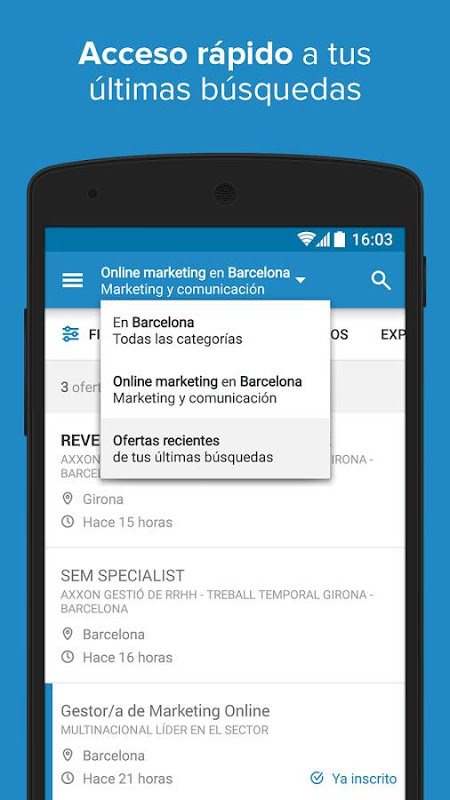 Android InfoJobs - Job Search Screen 3