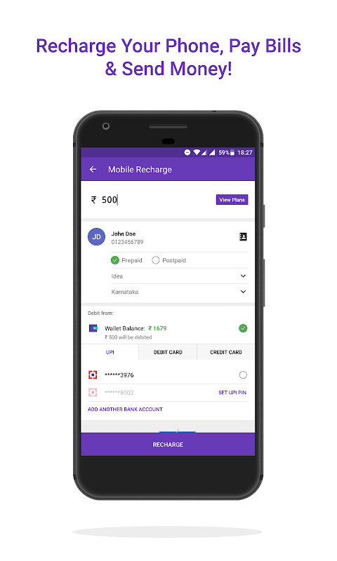 Android PhonePe – UPI Payments, Recharges & Money Transfer Screen 3