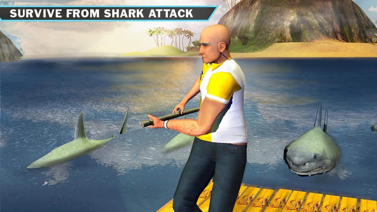 Android Ocean Raft Survival Simulator Screen 3