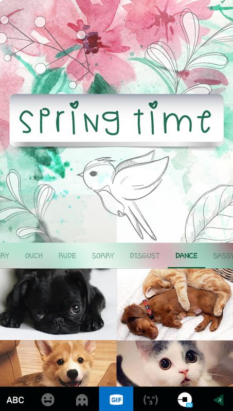 Spring Time Kika Keyboard 3.0 Screen 6