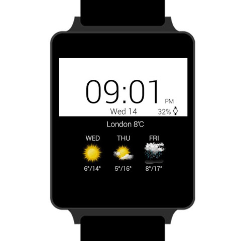 Android Transparent clock weather Premium Screen 4