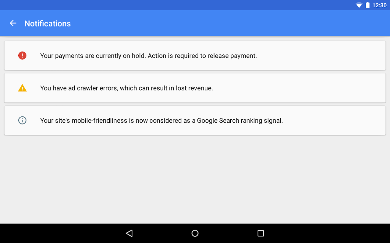 Android Google AdSense Screen 11