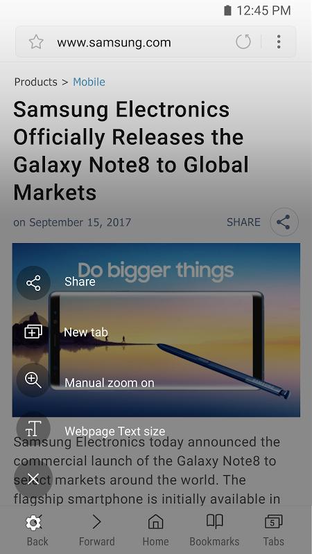 Samsung Internet Browser 6.2.01.12 Screen 6