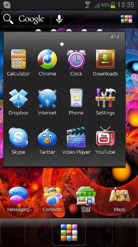 ADW Theme Samoled 1.16 Screen 5