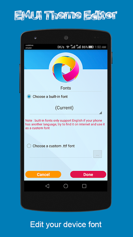 Android EMUI Theme Editor Screen 3