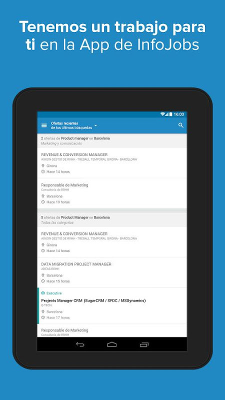 Android InfoJobs - Job Search Screen 8