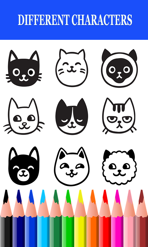 Cats Drawing and Coloring Book 1.0.0 Screen 2