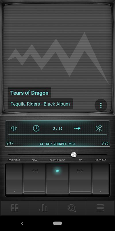 Retro Black skin for Poweramp V3 APKs | Android APK