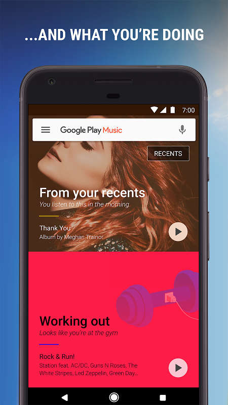 Android Google Play Music Screen 1