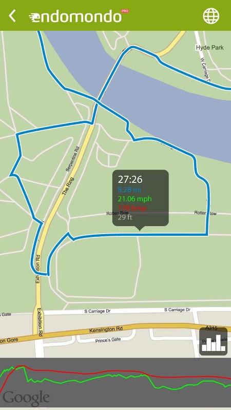 Android Endomondo Sports Tracker PRO Screen 7