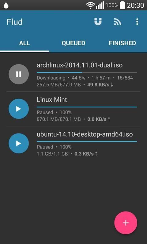 Flud - Torrent Downloader 1.4.9 Screen 1