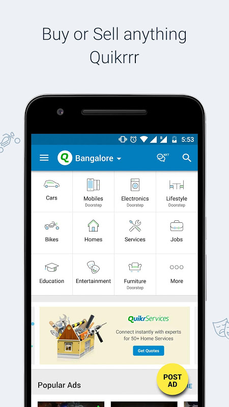 Quikr Free Local Classifieds 9.64 Screen 4