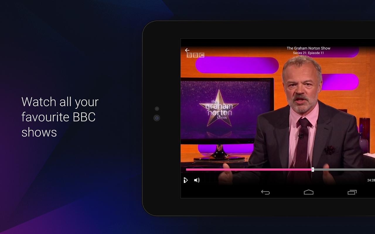 Android BBC iPlayer Screen 1