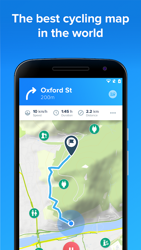Android Bikemap - GPS Bike Route Tracker & Map for Cycling Screen 4