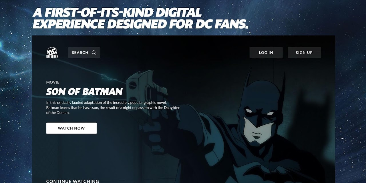 DC Universe - Android TV 1.08 Screen 1
