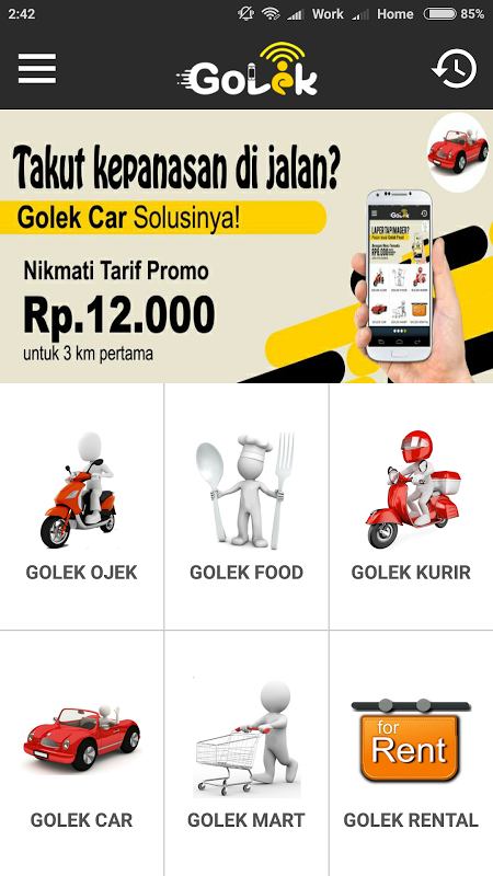 GOLEK 2.0 Screen 1